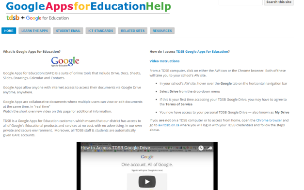 Google APPS for Education Help