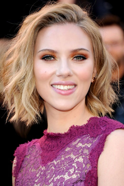 ¿Cuánto mide Scarlett Johansson? - Altura - Real height Famous-celebrity-hairstyles-6